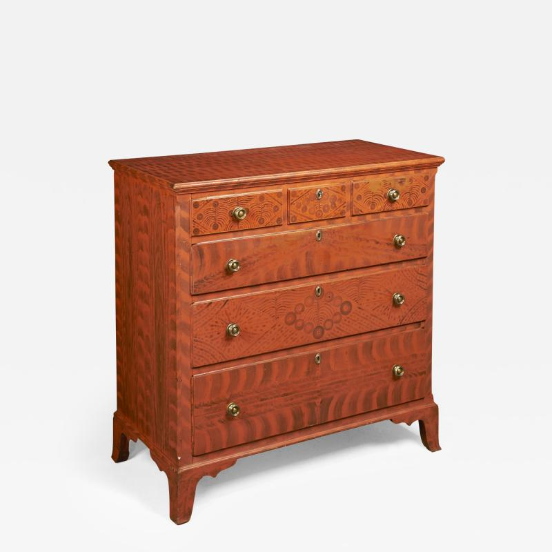 Paint Decorated Chest of Drawers from the Oley Valley