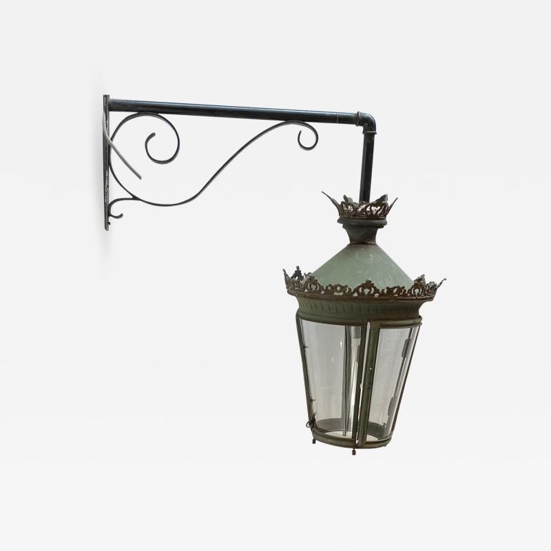 Painted Metal Lantern France Circa 19th Century