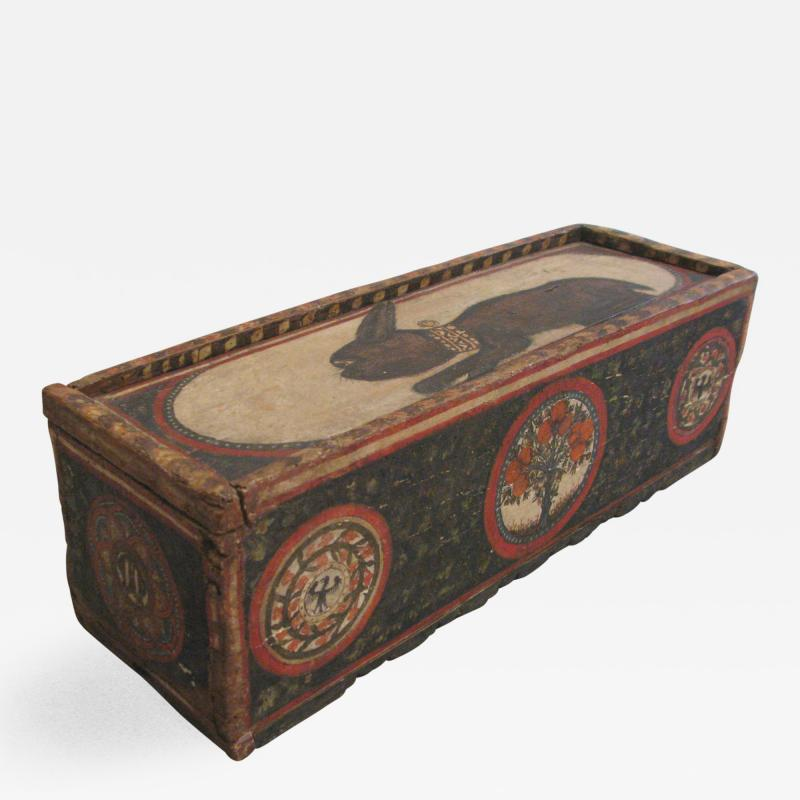Painted Wood Casket