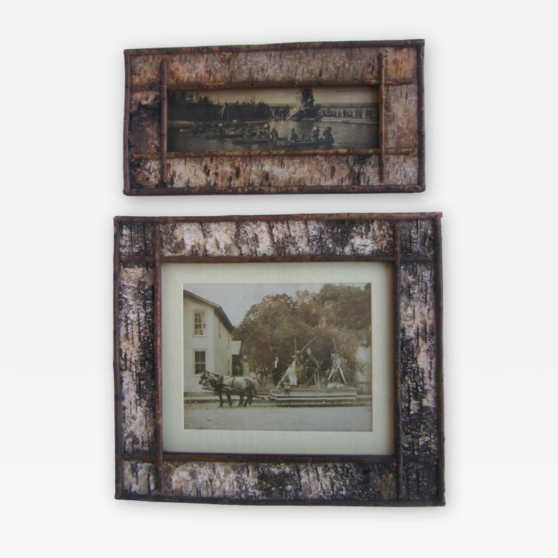 Pair Birch Bark Frames