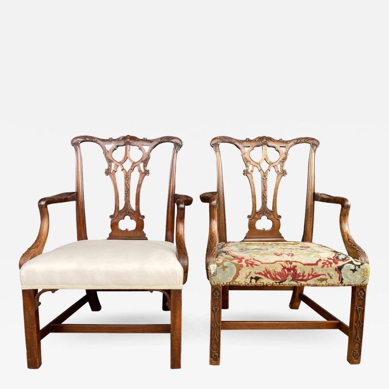 Pair Of Fine George III Mahogany Armchairs