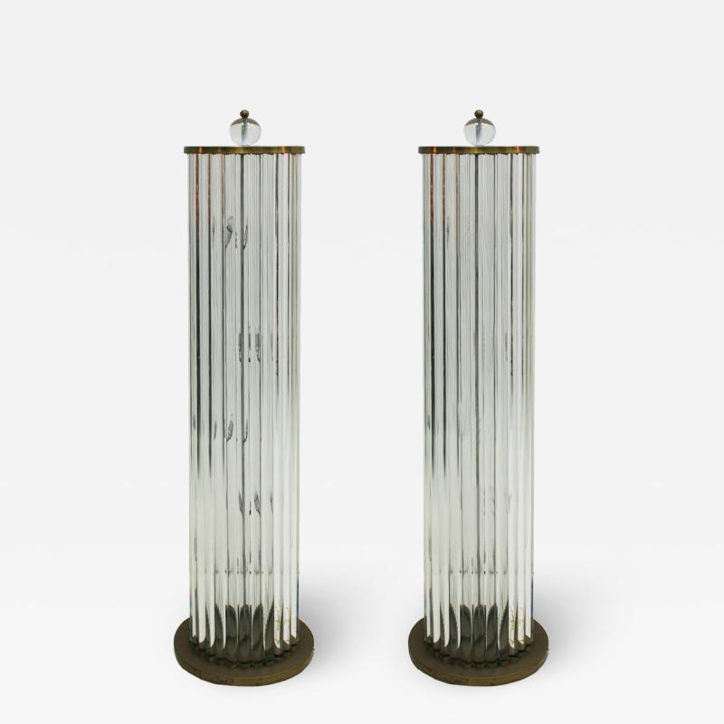 Pair Of Murano Glass Italian Floor Lamps 70s