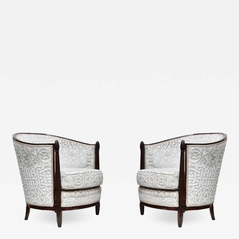 Pair Paul Follot design armchairs