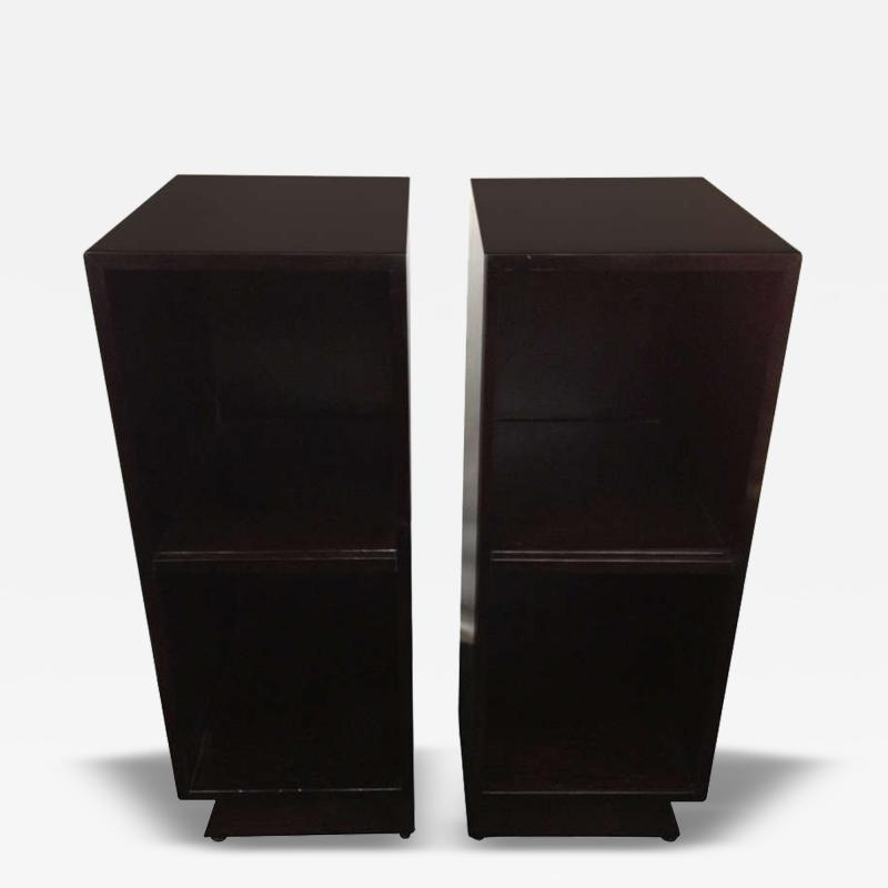 Pair Slim Tower Bookcase End Table