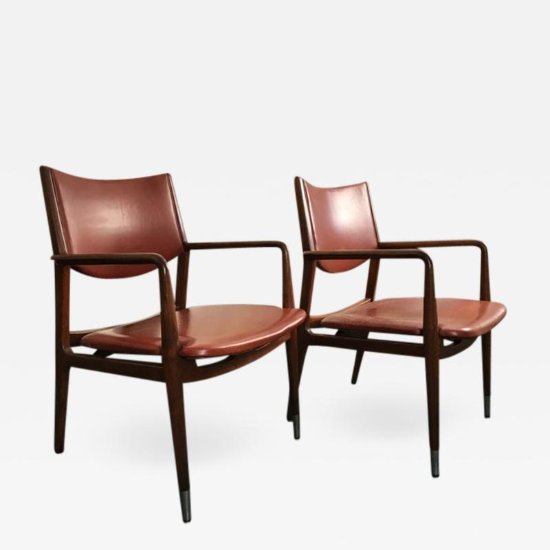 Pair armchairs by George Reinoehl for Stow Davis