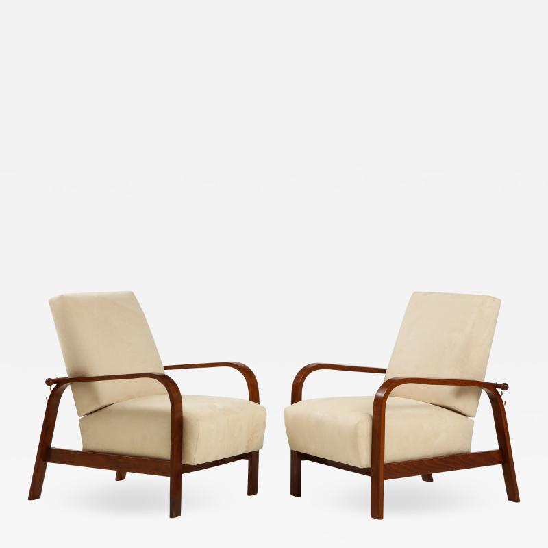 Pair of 1930s Italian Reclining Armchairs