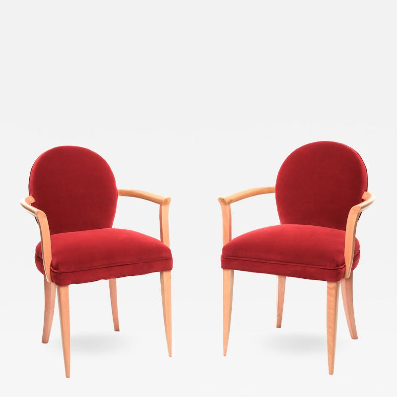 Pair of 1940s French bridges armchairs