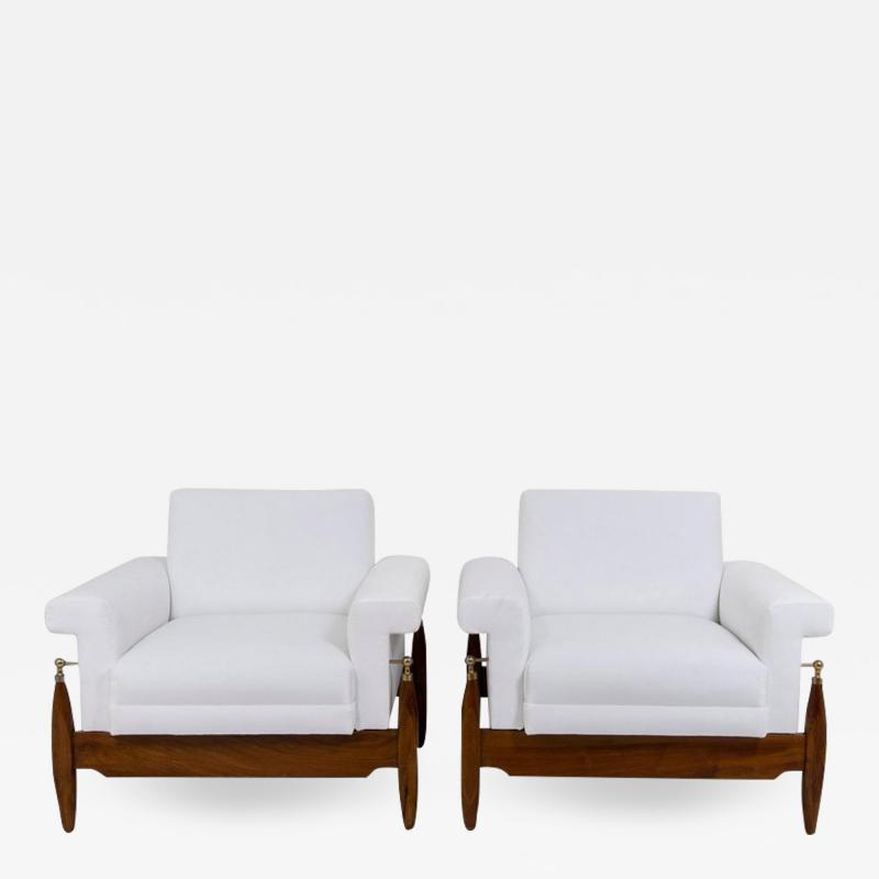 Pair of 1940s Italian Lounge Chairs