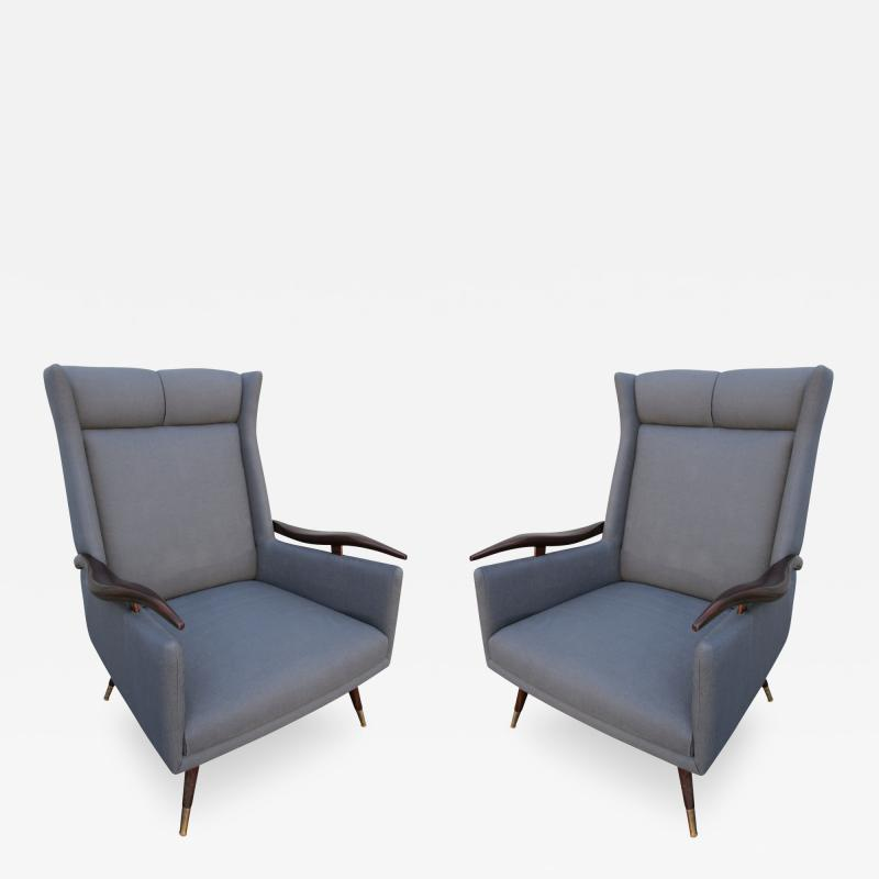 Pair of 1950s Brazilian Lounge Armchairs Chairs