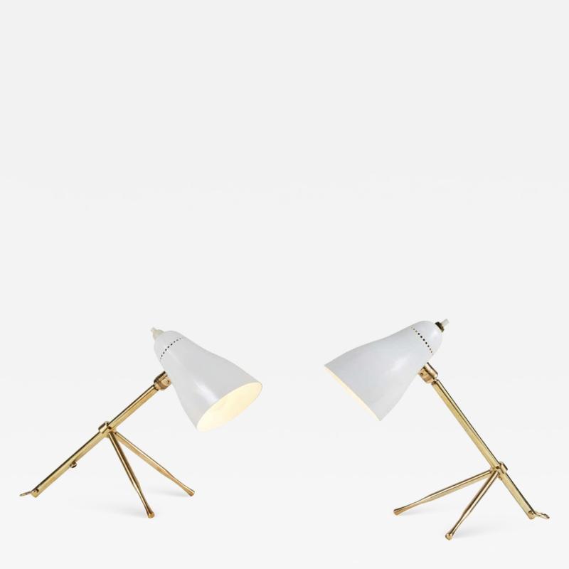 Pair of 1950s Giuseppe Ostuni Ochetta Wall or Table Lamps for O Luce