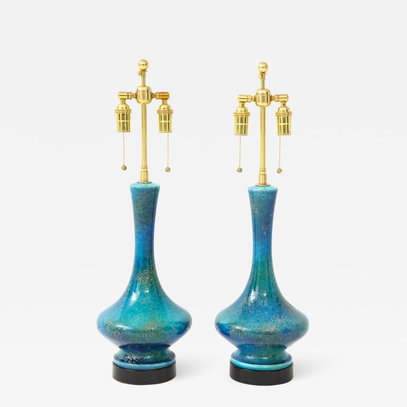 Pair of 1960s Italian Ceramic Lamps