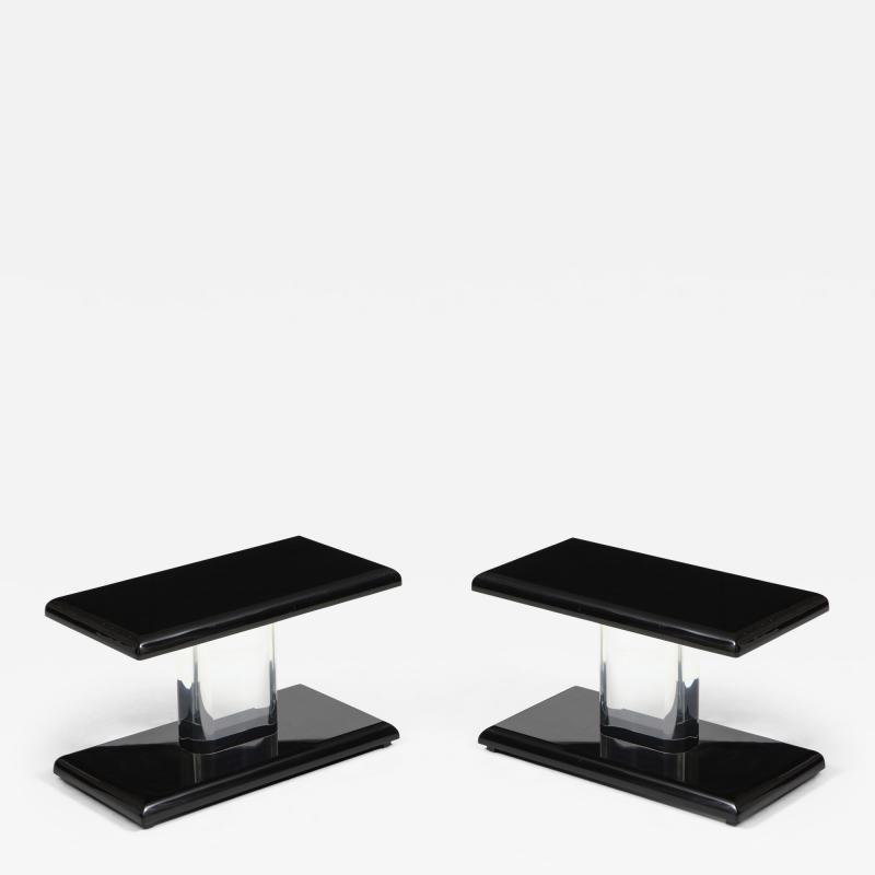 Pair of 1980 s Lucite Tables