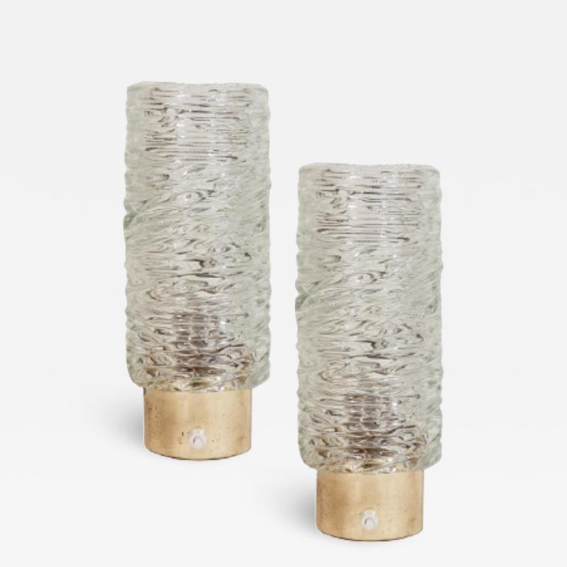 Pair of Belgian Crystal Lamps
