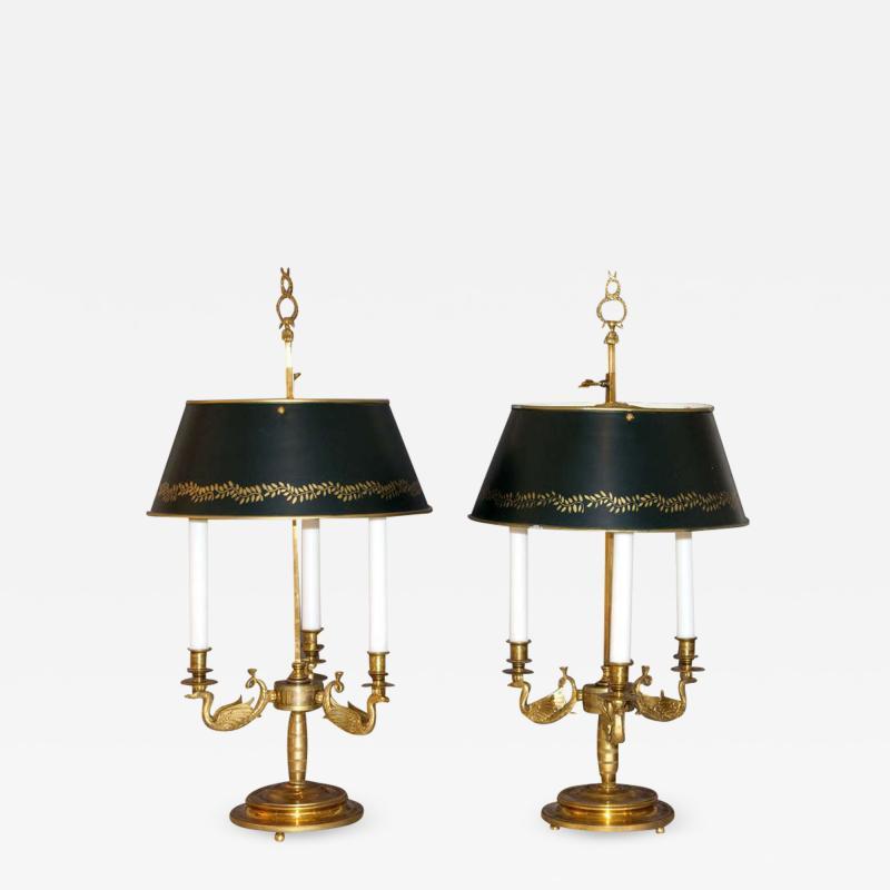 Pair of Bouillotte Lamps