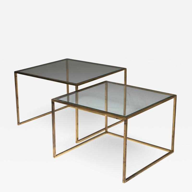 Pair of Brass Nesting Tables