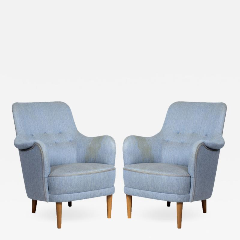 Pair of Carl Malmssten Samsass Chairs