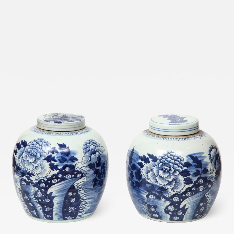 Pair of Chinese Export Ginger Jars