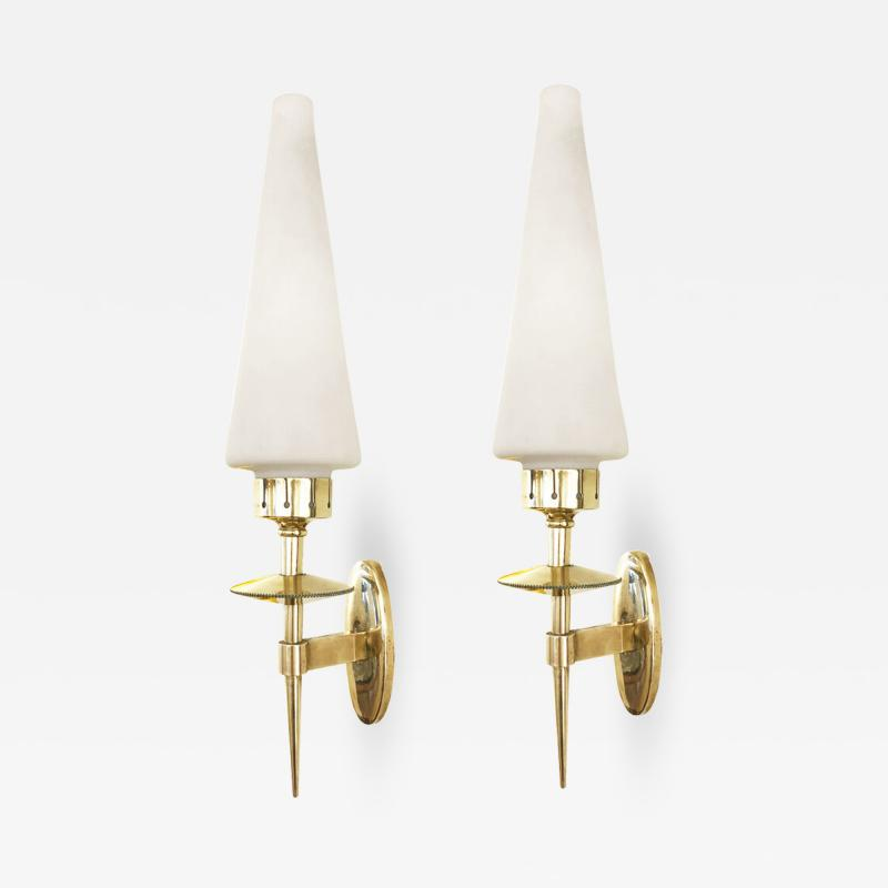 Pair of Conical Mid Century Sconces