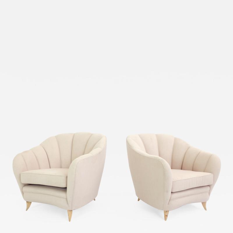Pair of Cozy Italian Armchairs