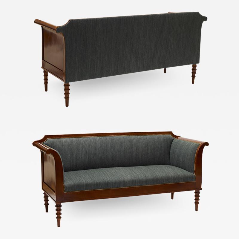Pair of Danish Neo Antique Mahogany Sofas