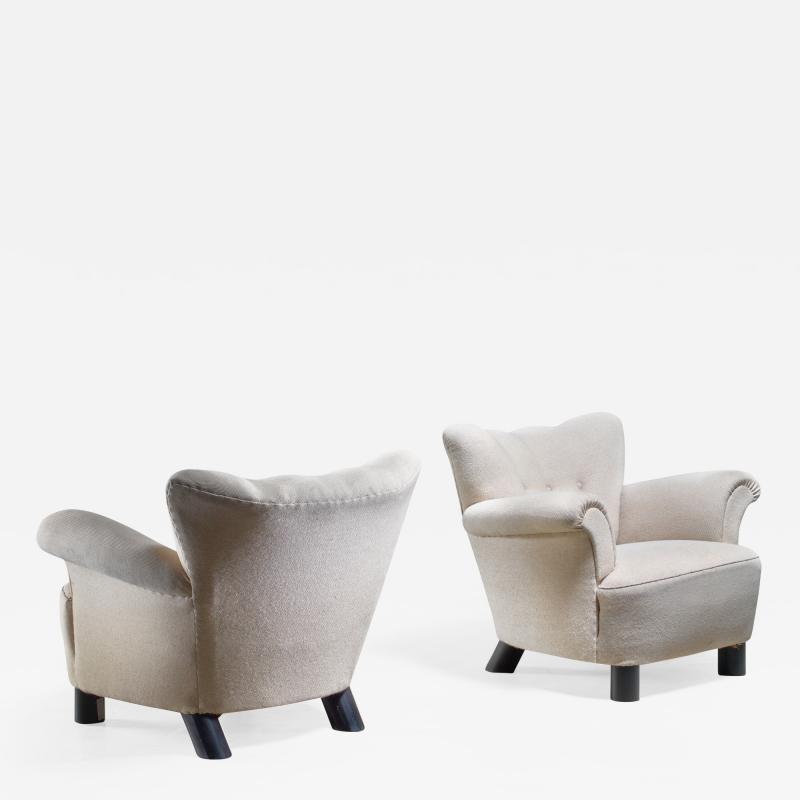 Pair of Danish easy chairs 1940s