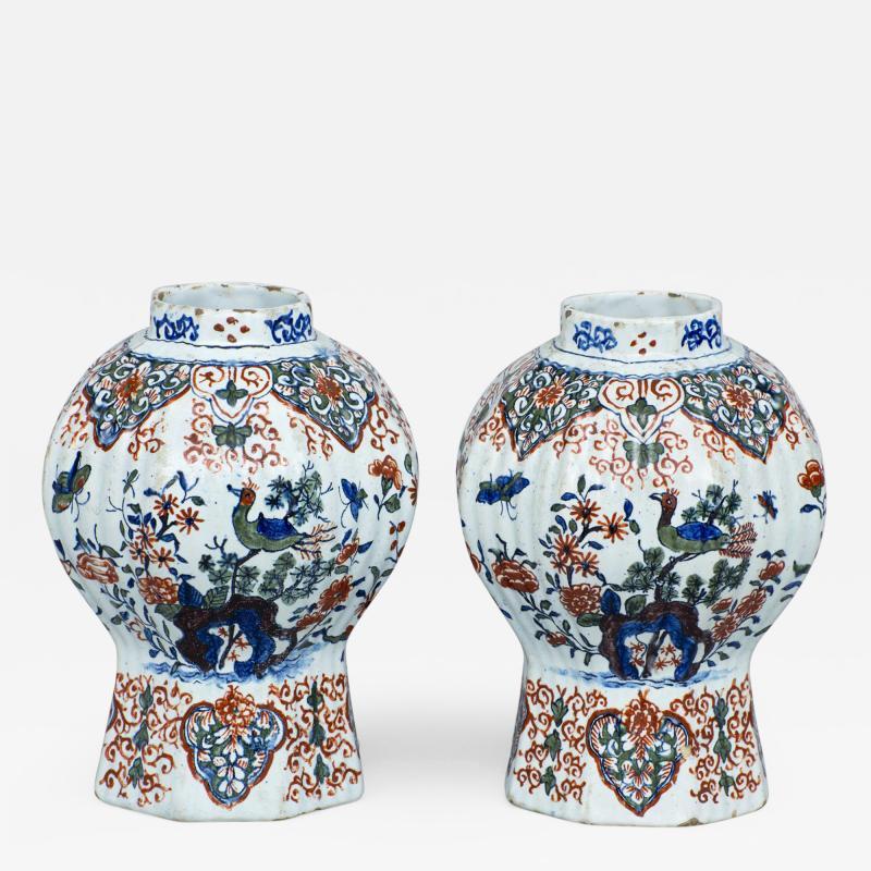 Pair of Dutch Delft Vases 17th Century