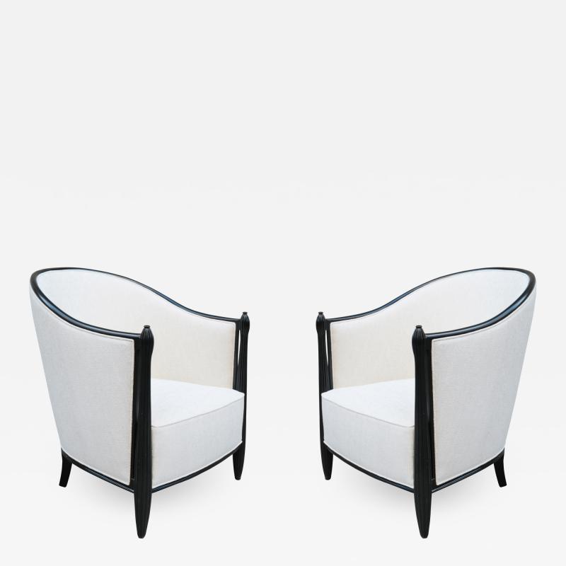 Pair of Ebonized Art Deco Berg res