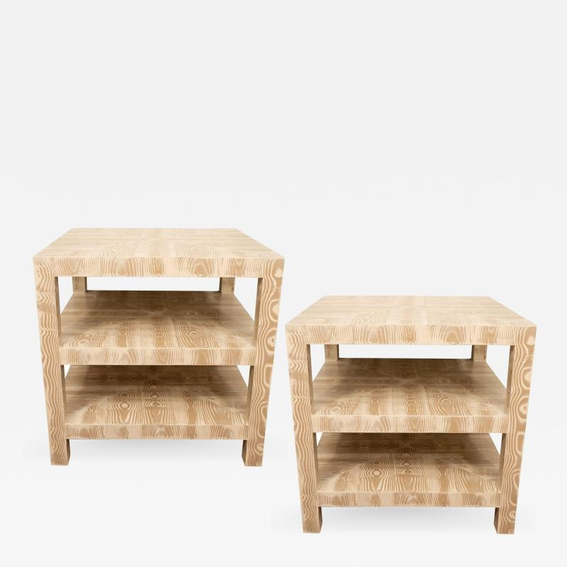 Pair of Faux Bois Side Tables