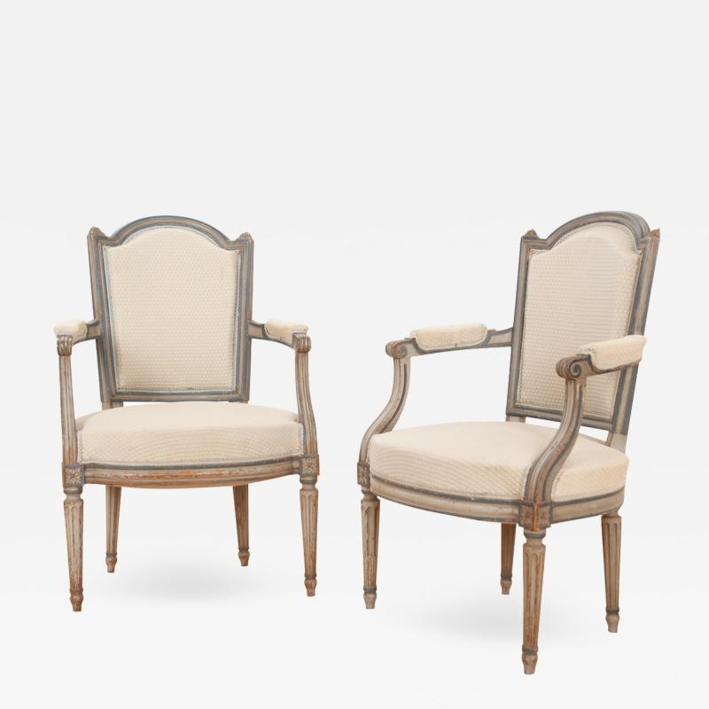 Pair of French 19th Century Louis XVI Style Fauteuils
