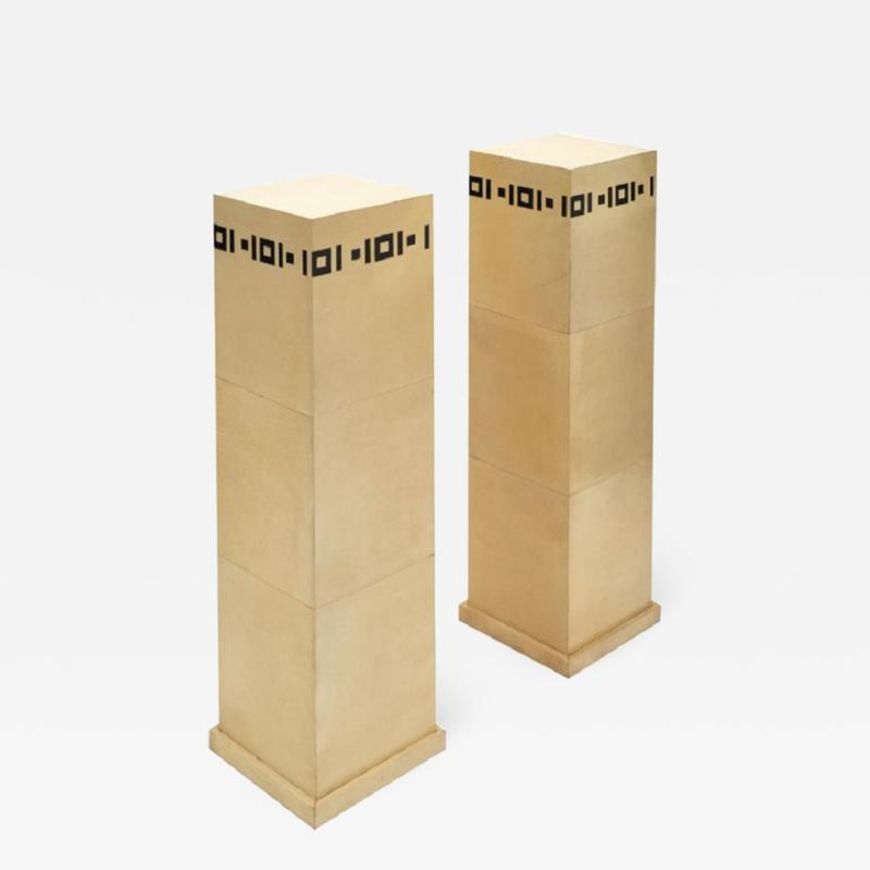 Pair of French Art Deco Pedestals