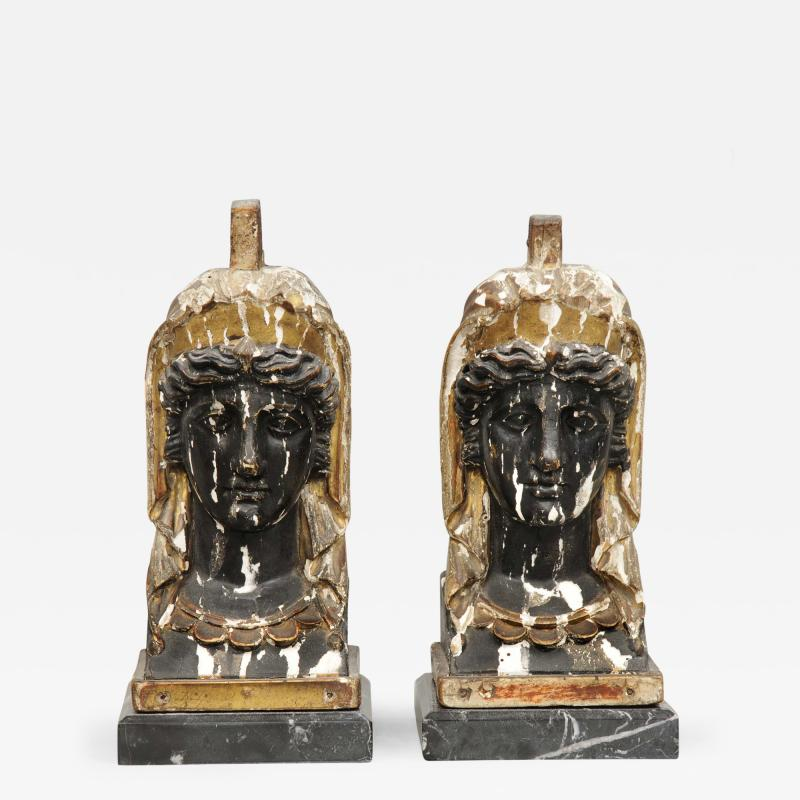 Pair of French Empire Head Bookends