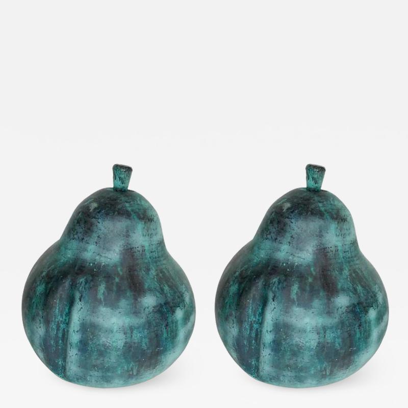 Pair of Garden Pear Design Sculptures