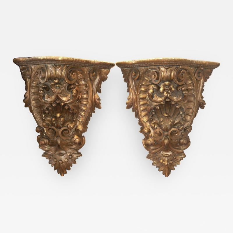 Pair of Giltwood Consoles wall brackets