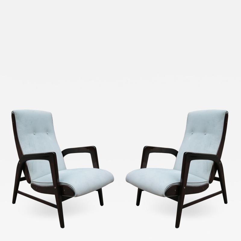 Pair of Gio Ponti Designed Armchairs