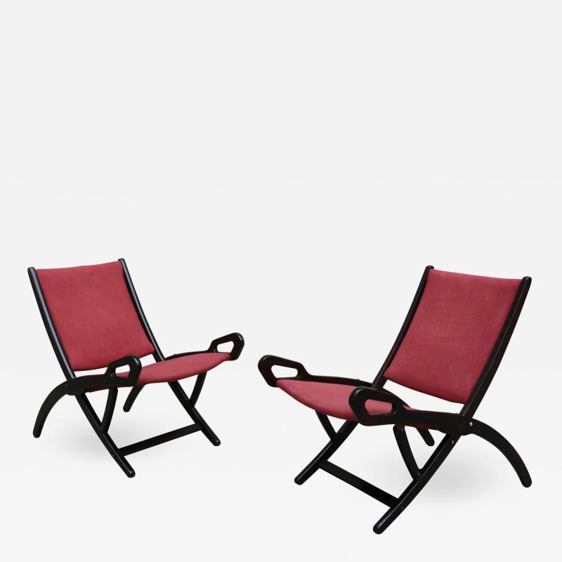 Pair of Gio Ponti Ninfea Folding Chairs for Brevetti Reguitti