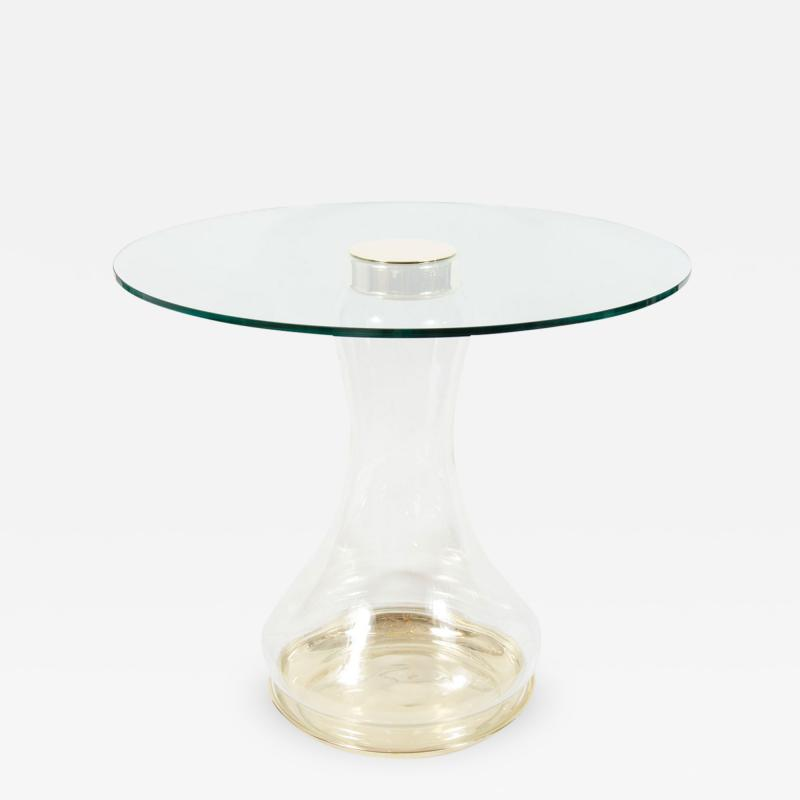 Pair of Glass Urn Form Base Tables