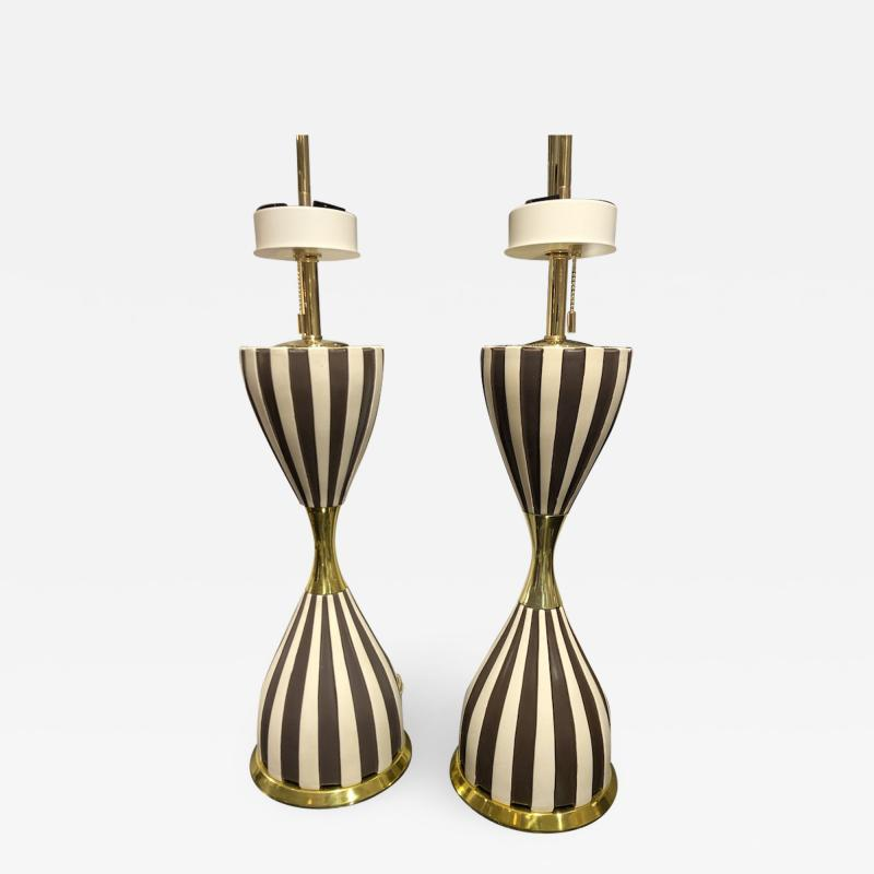 Pair of Harlequin Table Lamps by Gerald Thurston
