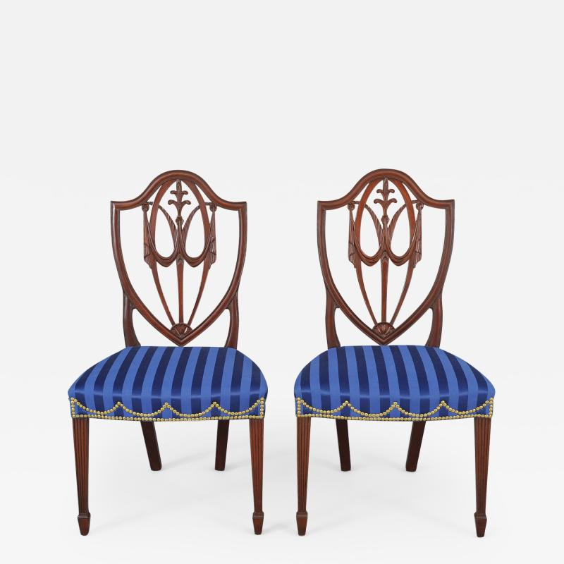 Pair of Hepplewhite Side Chairs