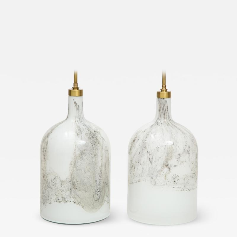 Pair of Holmegaard lamps Designed by Michael Bang
