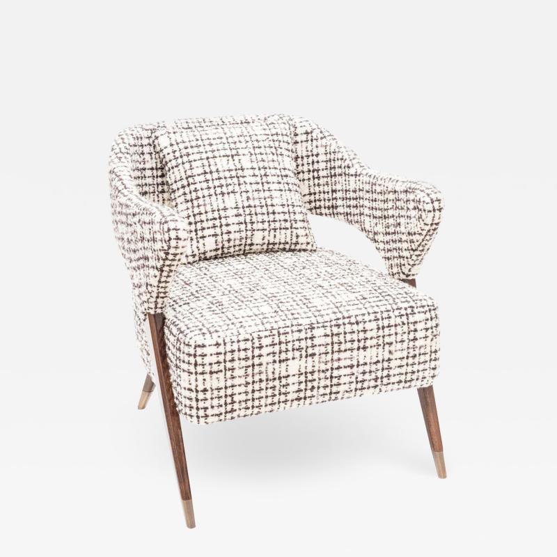 Pair of Italian Design Monique Armchair Midcentury Style