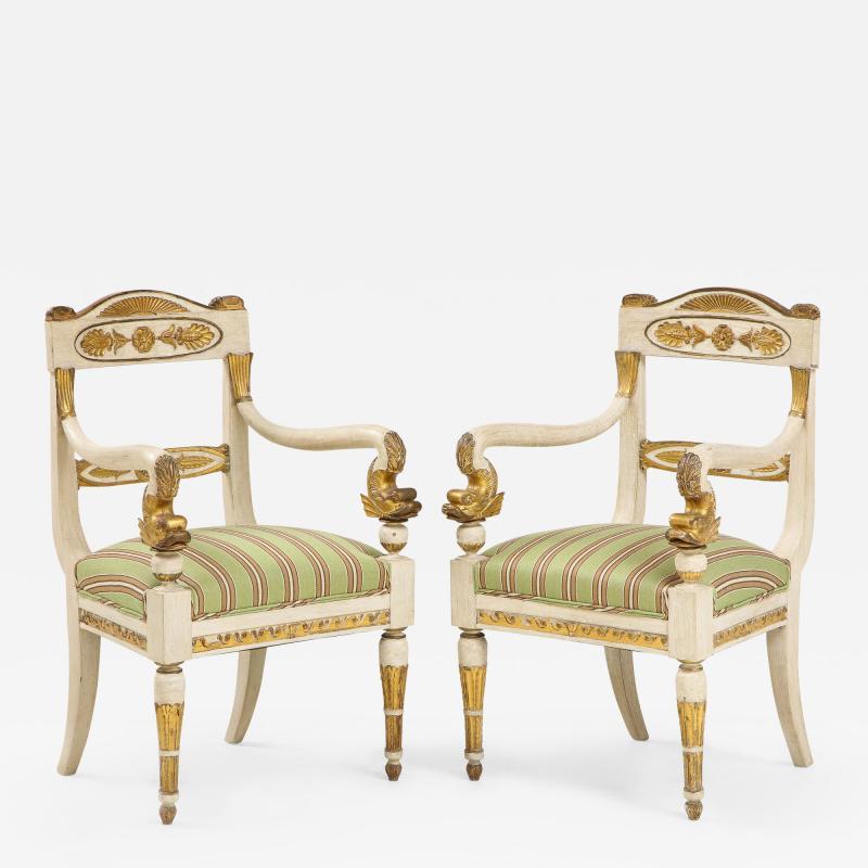 Pair of Italian Empire Chairs