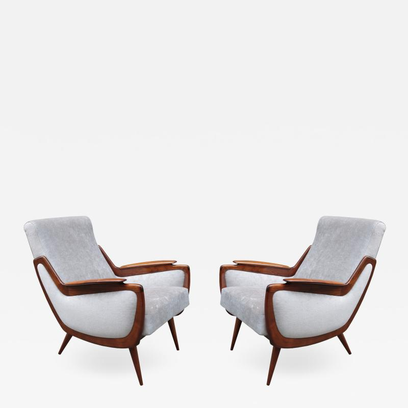 Pair of Italian Mid Century Armchairs