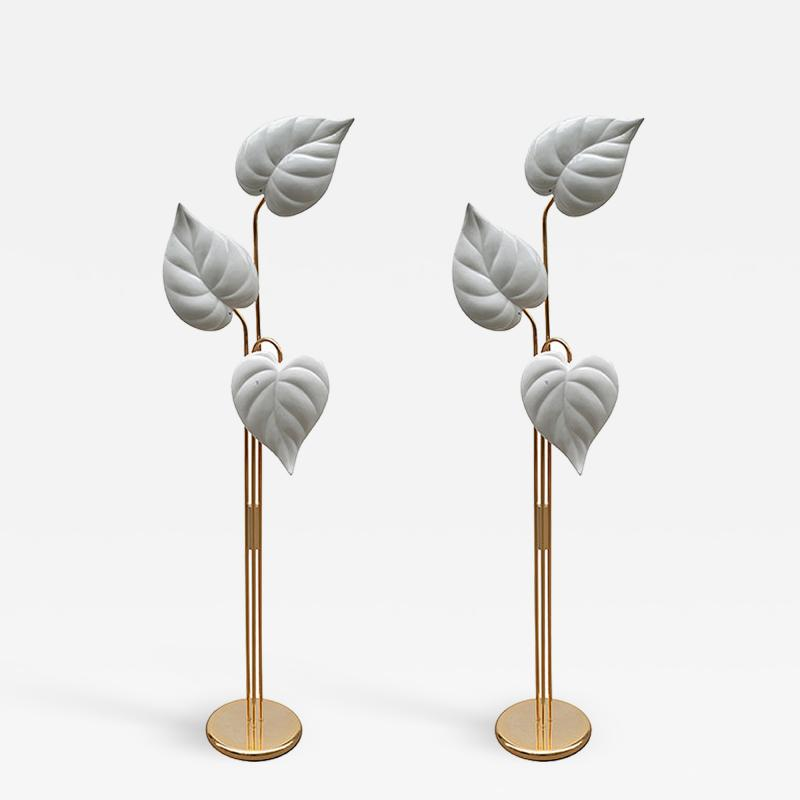 Pair of Italian Modernist Floor Lamps