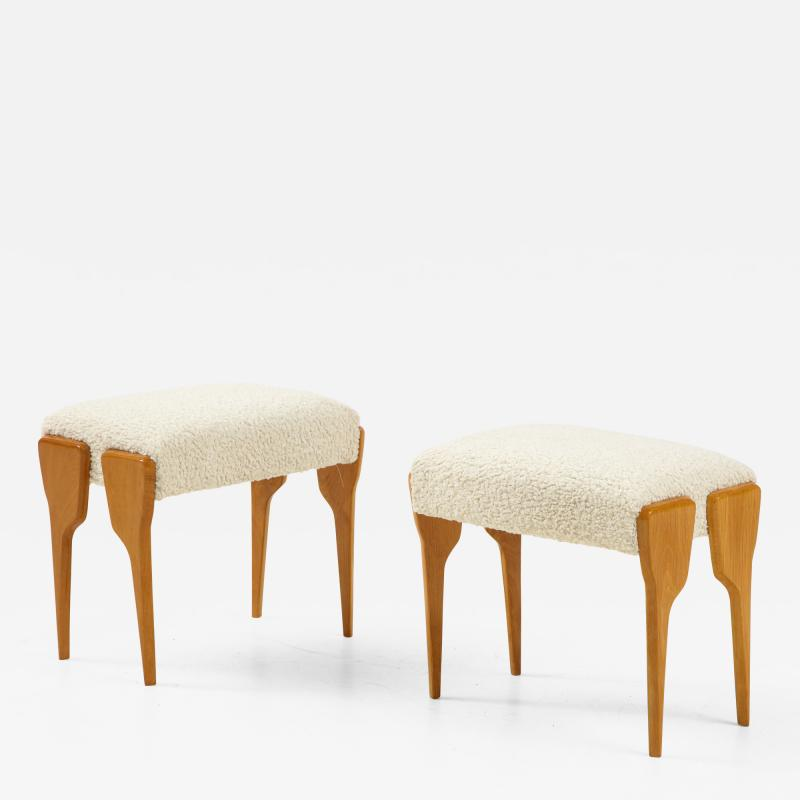 Pair of Italian Modernist Stools