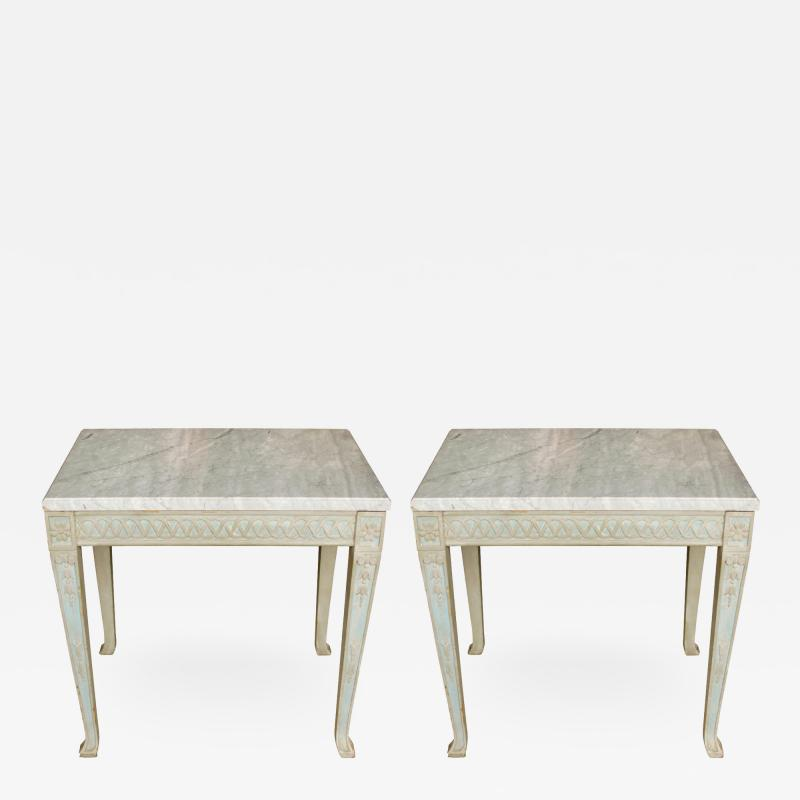 Pair of Italian Painted Side Tables