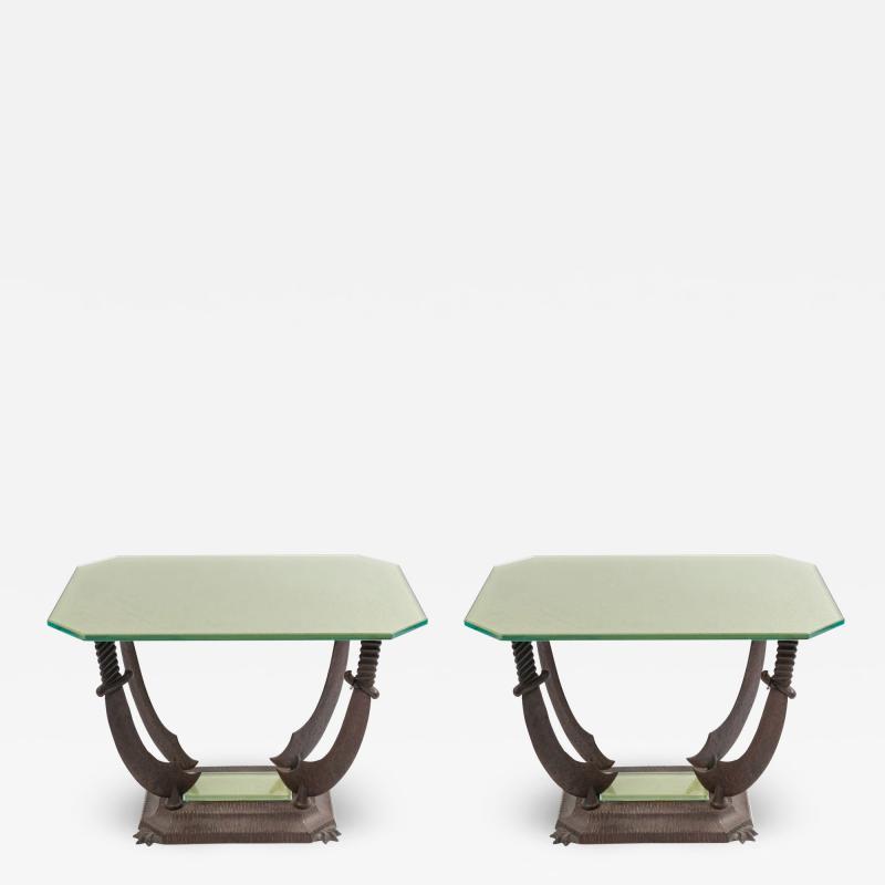 Pair of Italian Renaissance Iron Tables