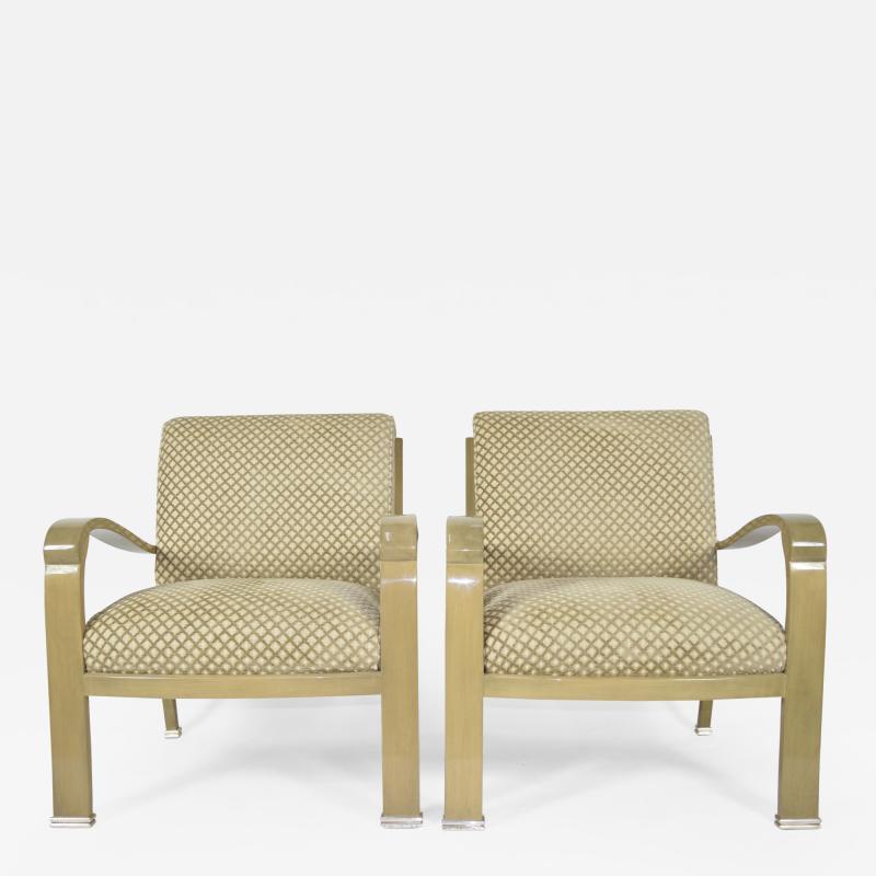 Pair of J Robert Scott Deco Lounge Chairs