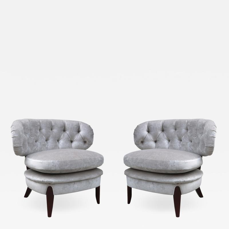 Pair of Lounge Chairs By Otto Schulz