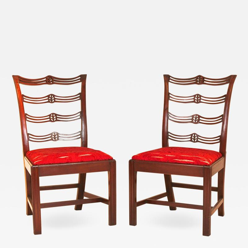 Pair of Mahogany Chippendale Side Chairs