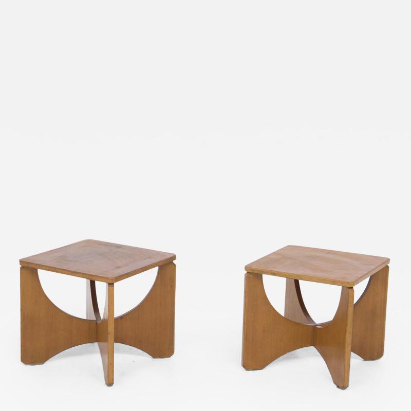 Pair of Mid Century American Wooden Stools